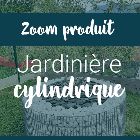 Jardinière en gabions cylindrique